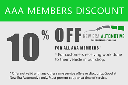 AAA Members Discount at New Era Automotive Coupon image